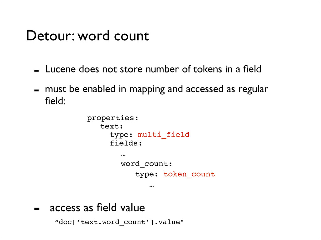 Detour: word count - Lucene does not store numb...