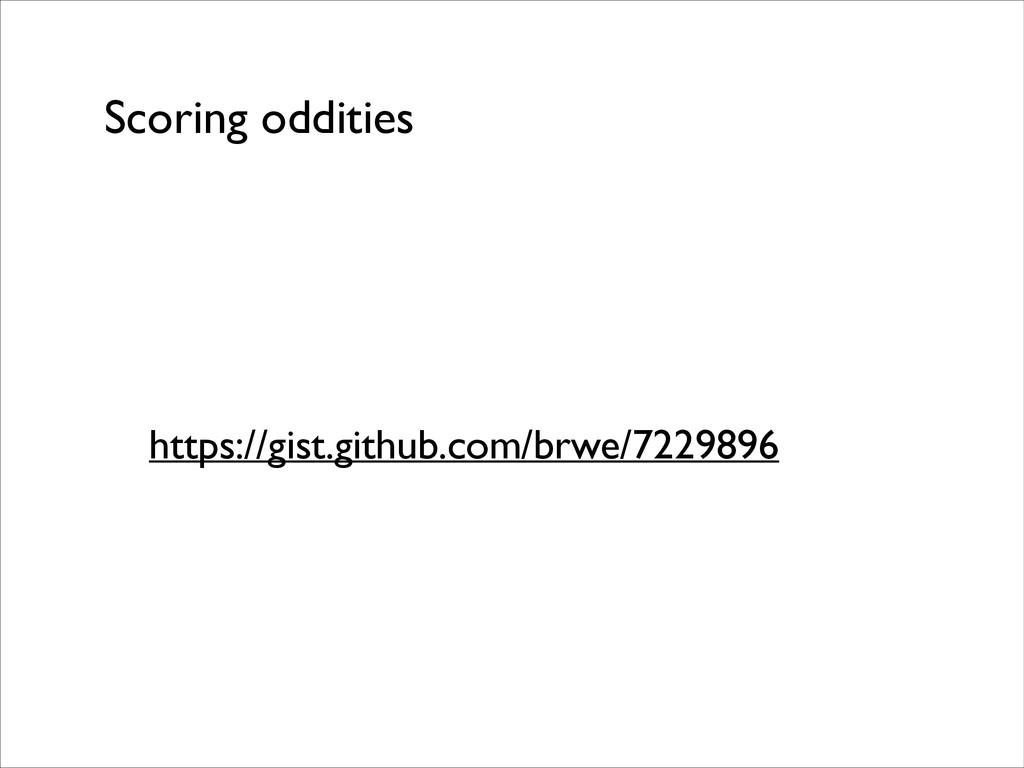 Scoring oddities https://gist.github.com/brwe/7...