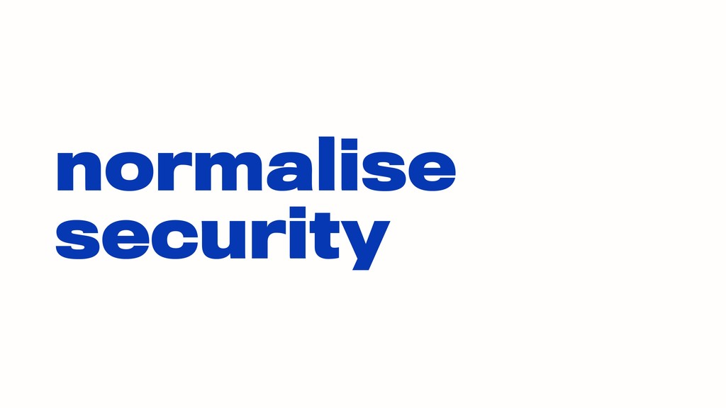 normalise security