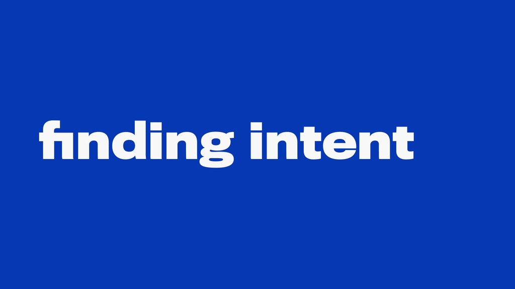 finding intent