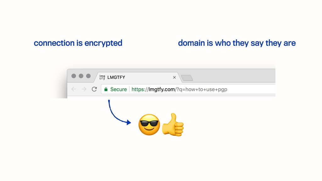 connection is encrypted domain is who they say ...