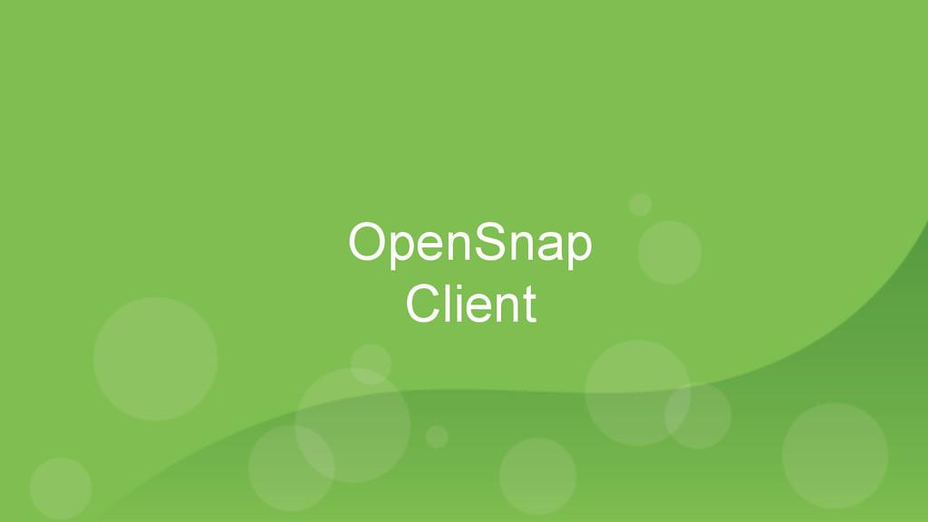 OpenSnap Client