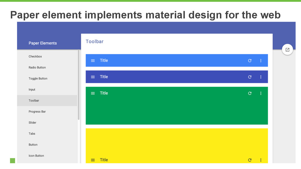 Paper element implements material design for th...