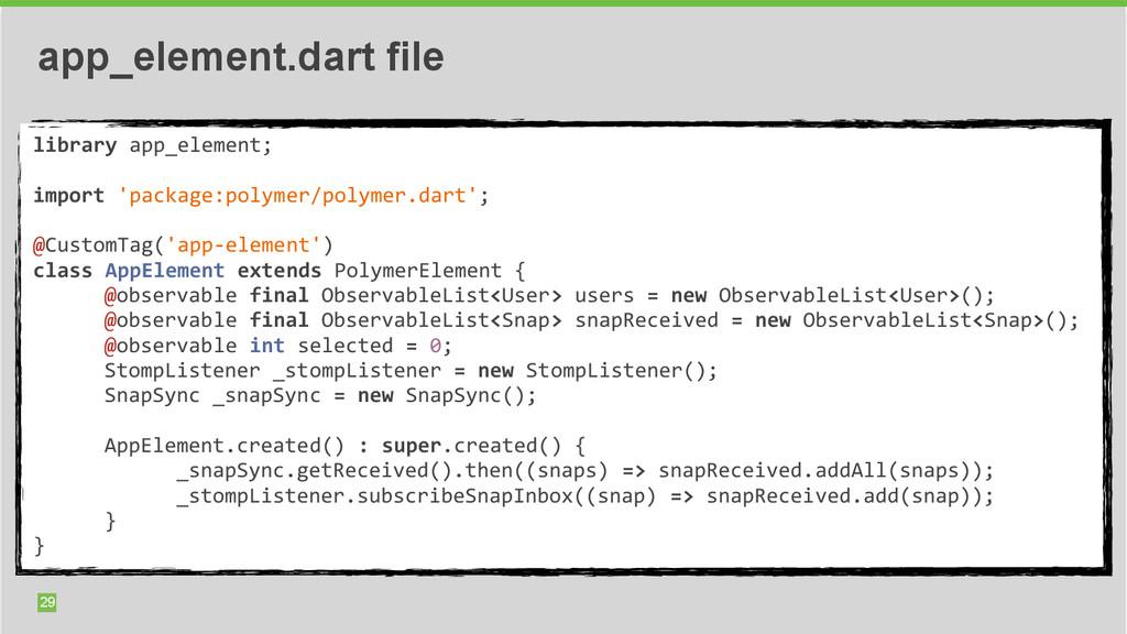 29 app_element.dart file library app_element...