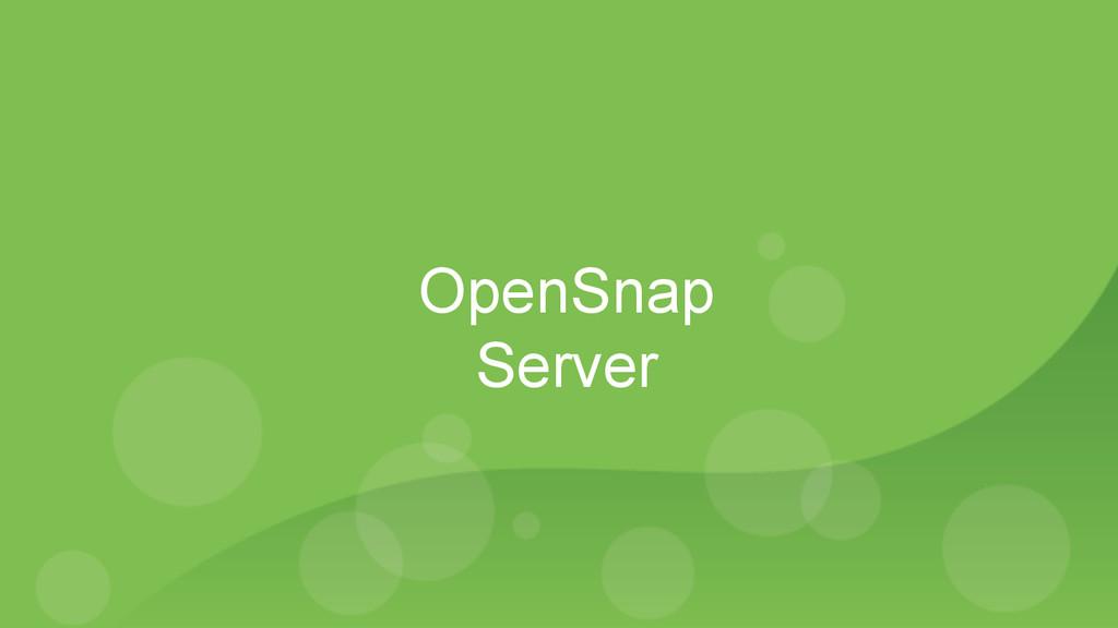 OpenSnap Server