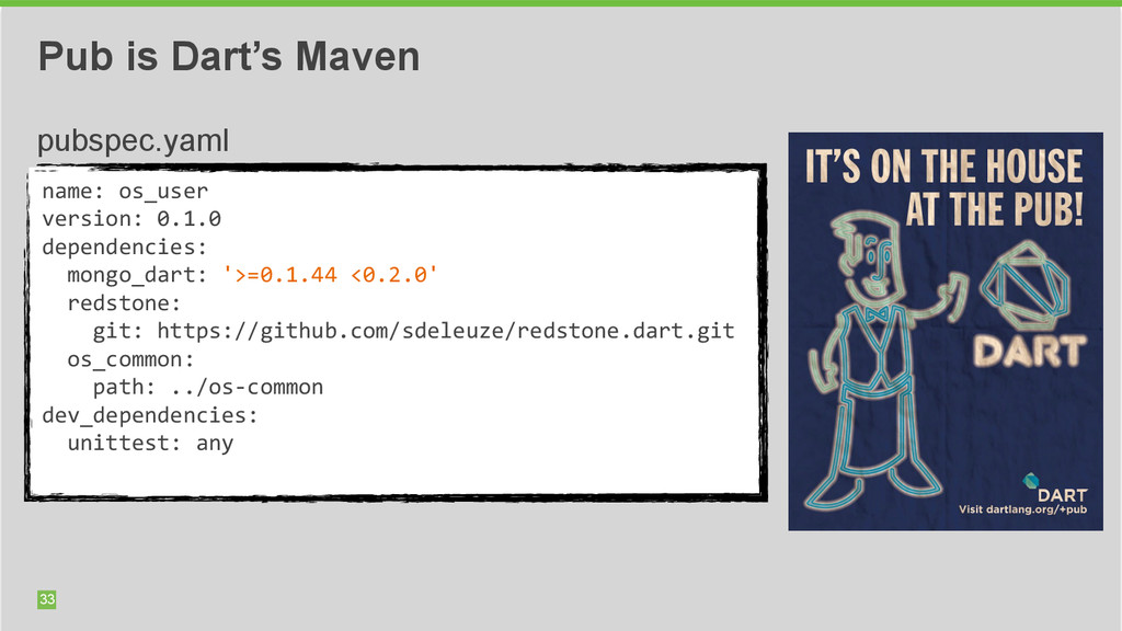 33 Pub is Dart's Maven name: os_user  ver...