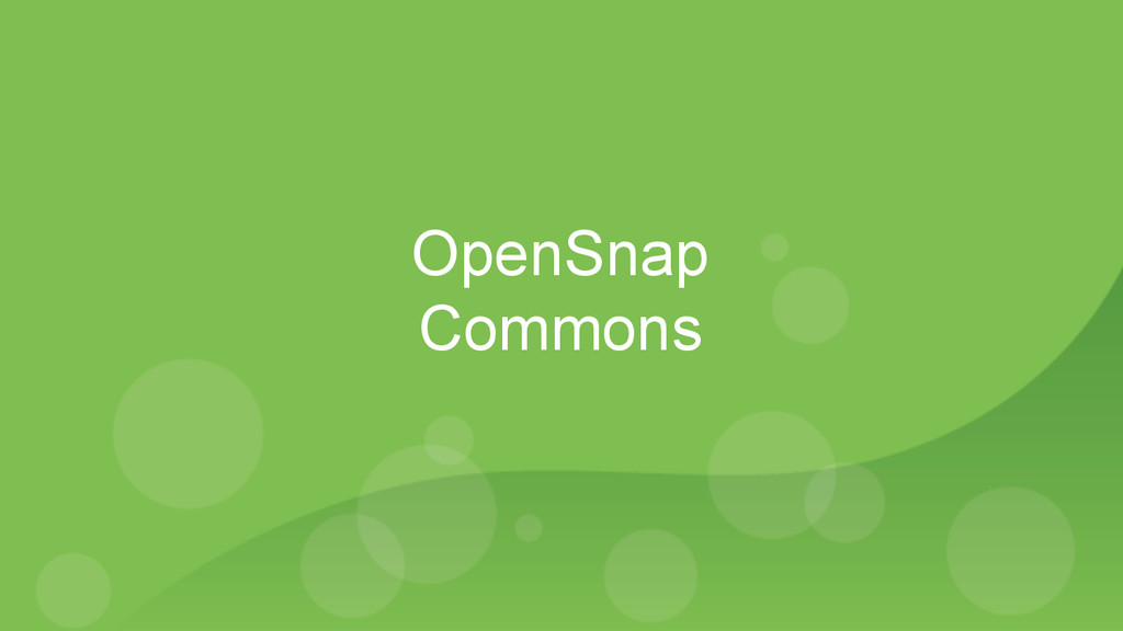 OpenSnap Commons