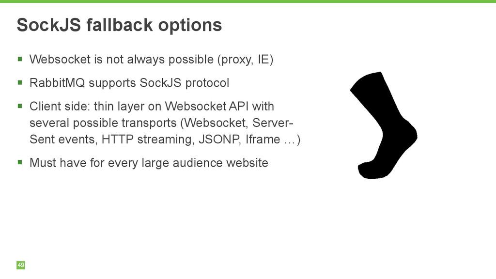49 SockJS fallback options § Websocket is not ...