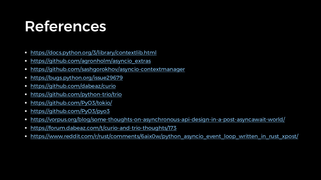References § https://docs.python.org/3/library/...