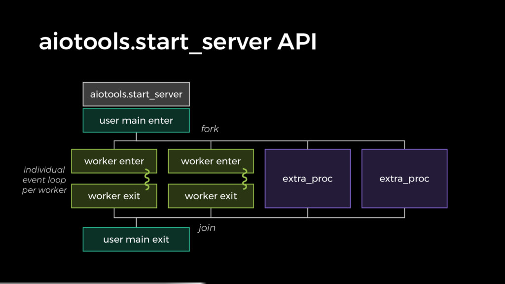 aiotools.start_server API extra_proc individual...