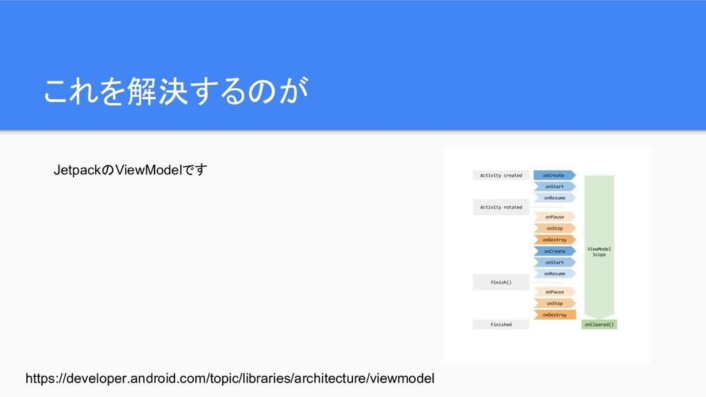 これを解決するのが JetpackのViewModelです https://developer...