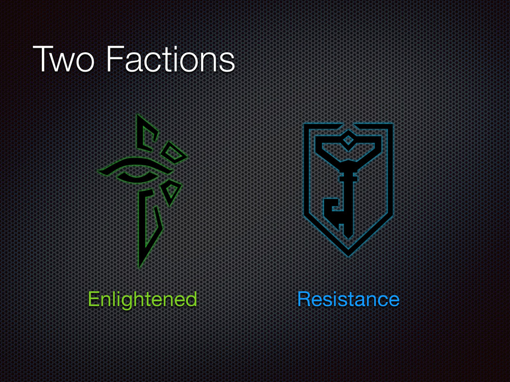 Two Factions Enlightened Resistance