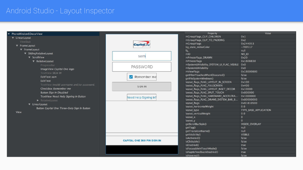 Android Studio - Layout Inspector