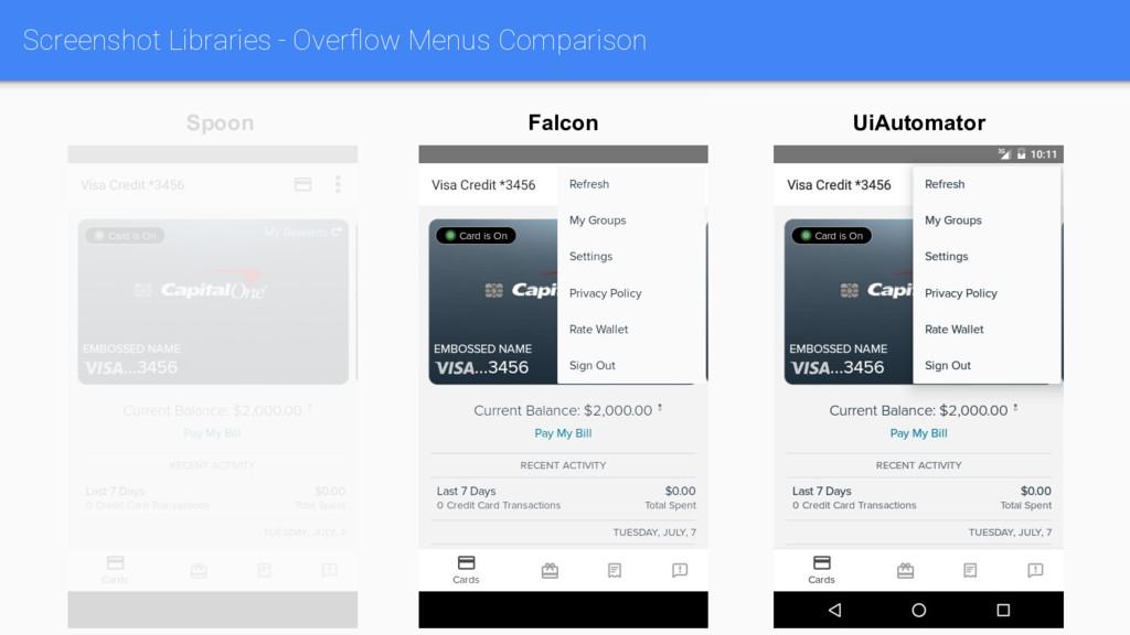 Screenshot Libraries - Overflow Menus Compariso...
