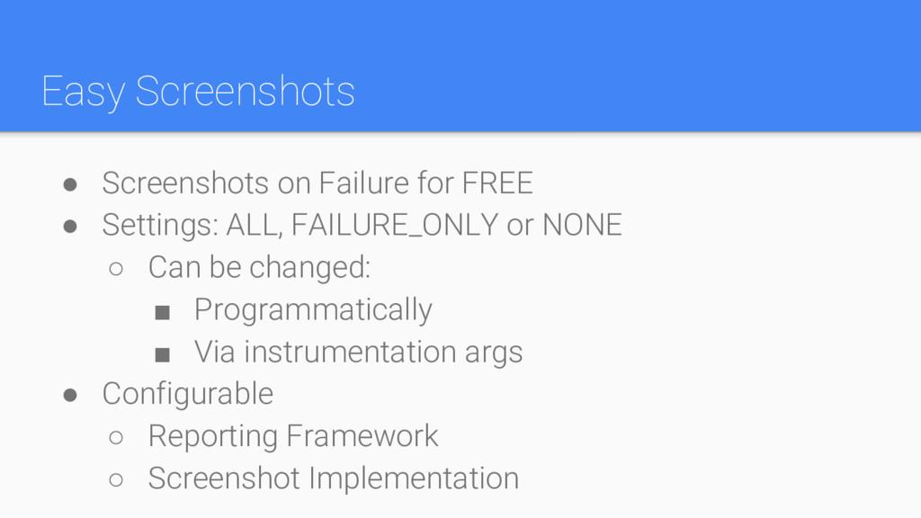 Easy Screenshots ● Screenshots on Failure for F...