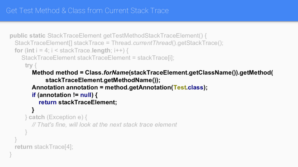 Get Test Method & Class from Current Stack Trac...