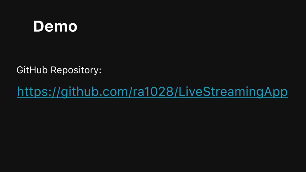 Demo GitHub Repository: https://github.com/ra10...