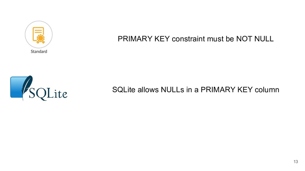 PRIMARY KEY constraint must be NOT NULL SQLite ...