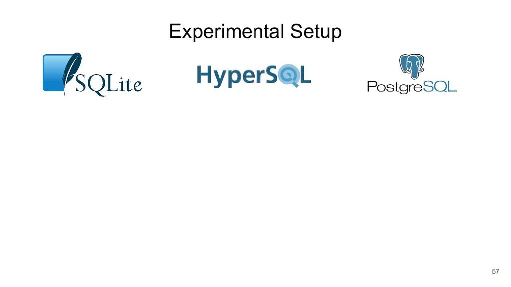 Experimental Setup 57