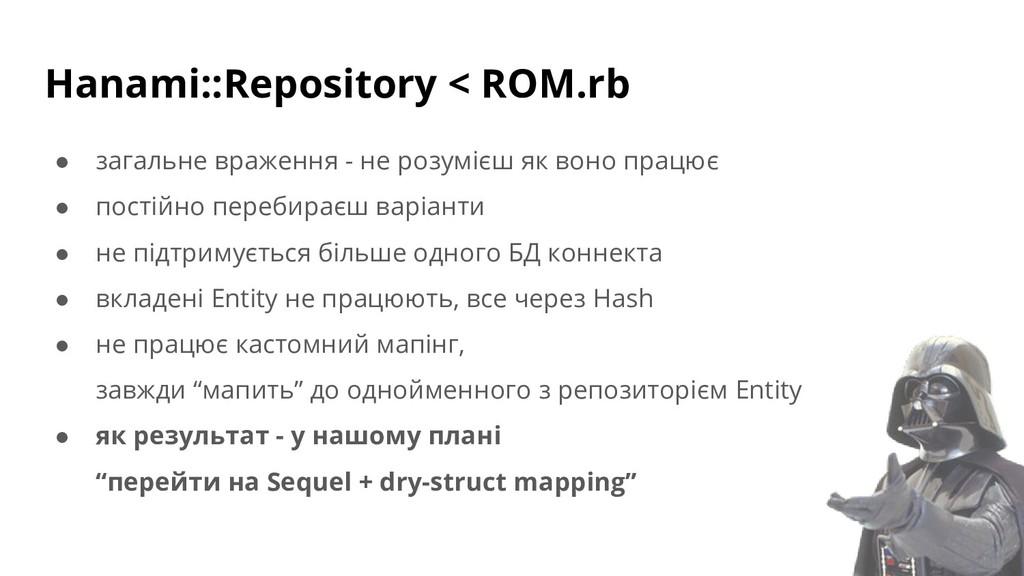 Hanami::Repository < ROM.rb ● загальне враження...