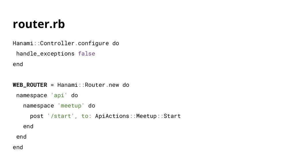 router.rb Hanami::Controller.configure do handl...