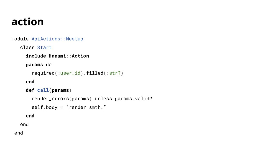 action module ApiActions::Meetup class Start in...