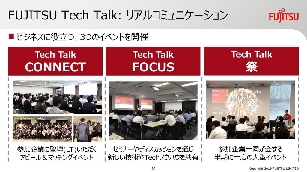 FUJITSU Tech Talk: リアルコミュニケーション  ビジネスに役立つ、3つのイ...