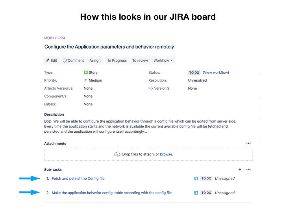 How this looks in our JIRA board