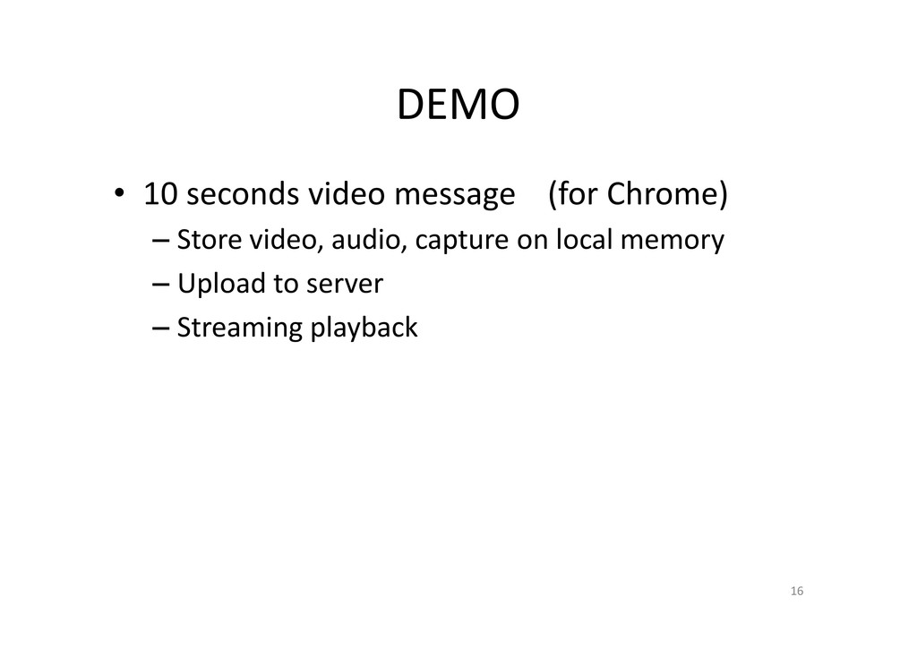 DEMO • 10 seconds video message (for Chrome) – ...