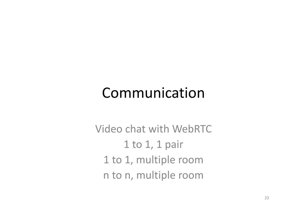 Communication Video chat with WebRTC 1 to 1, 1 ...