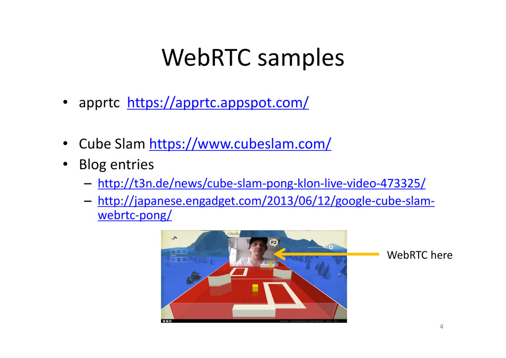 WebRTC samples • apprtc https://apprtc.appspot....