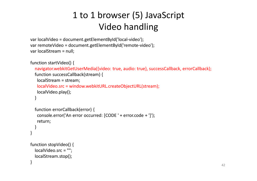 1 to 1 browser (5) JavaScript Video handling 42...