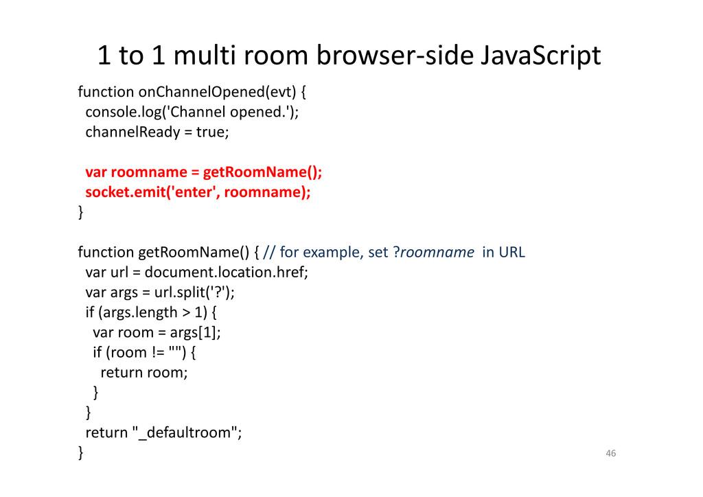 1 to 1 multi room browser-side JavaScript 46 fu...