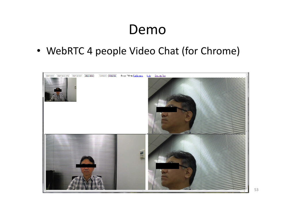 Demo • WebRTC 4 people Video Chat (for Chrome) ...