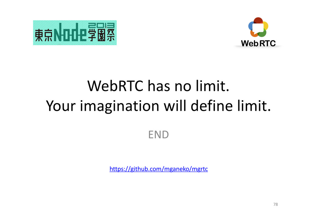 WebRTC has no limit. Your imagination will defi...