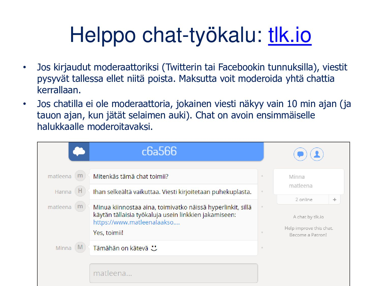 www.disposablechat.com • Yksinkertainen chat, m...