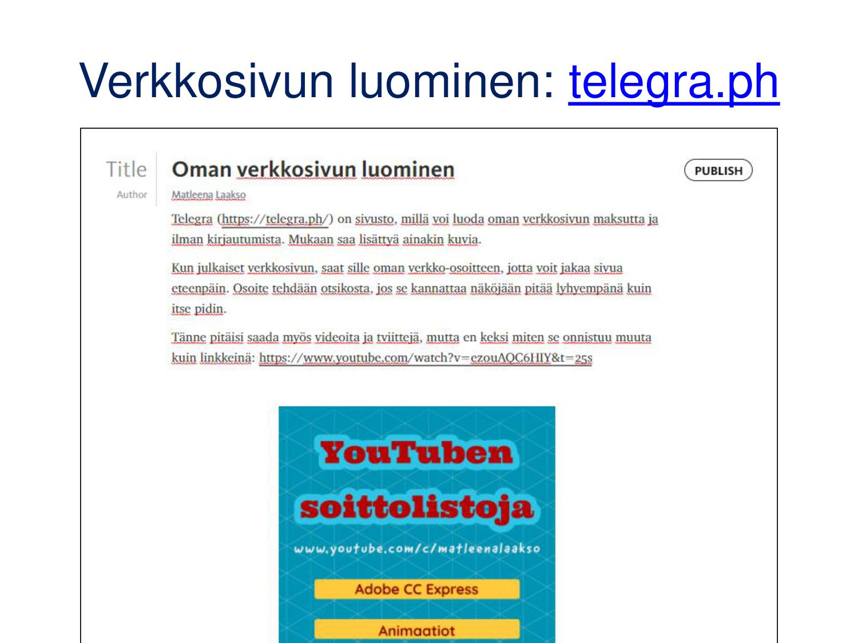 Helppo chat-työkalu: tlk.io • Jos kirjaudut mod...