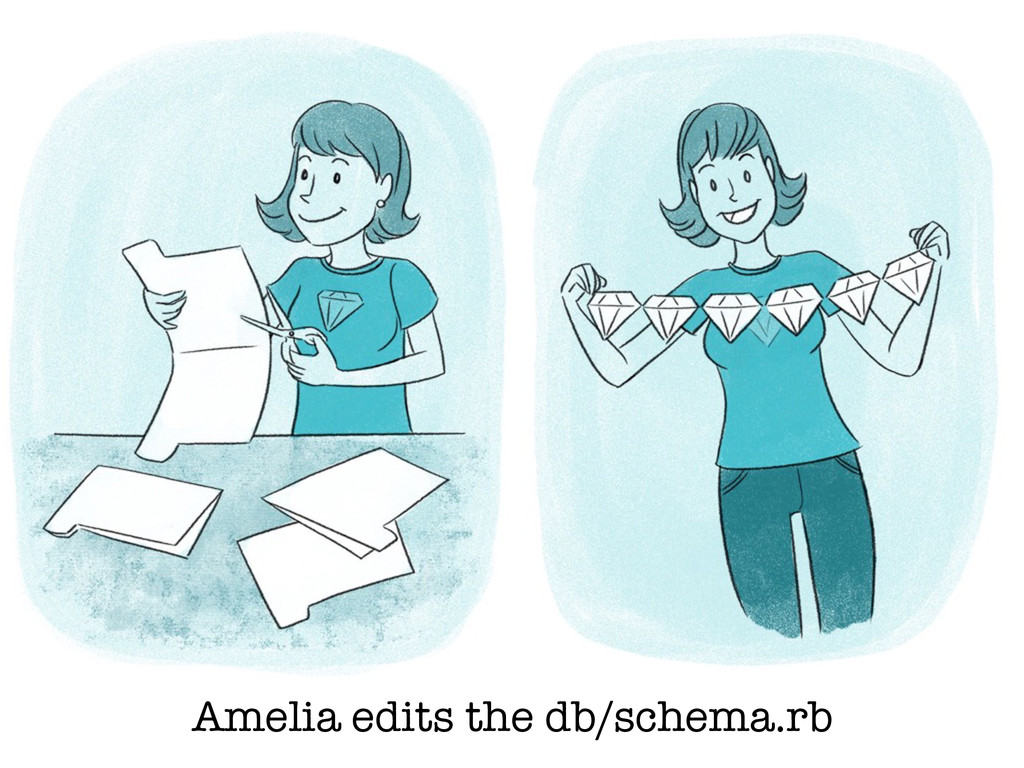 Amelia edits the db/schema.rb