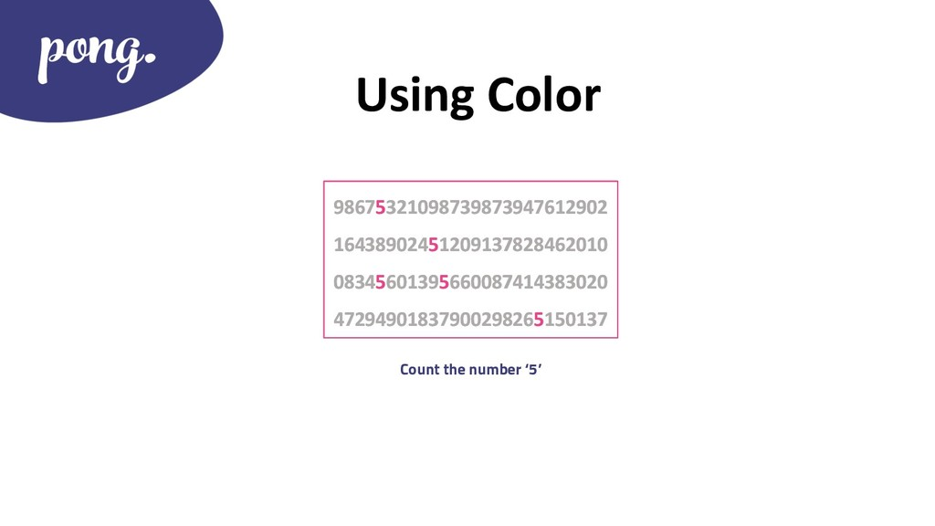 Using Color 98675321098739873947612902 16438902...