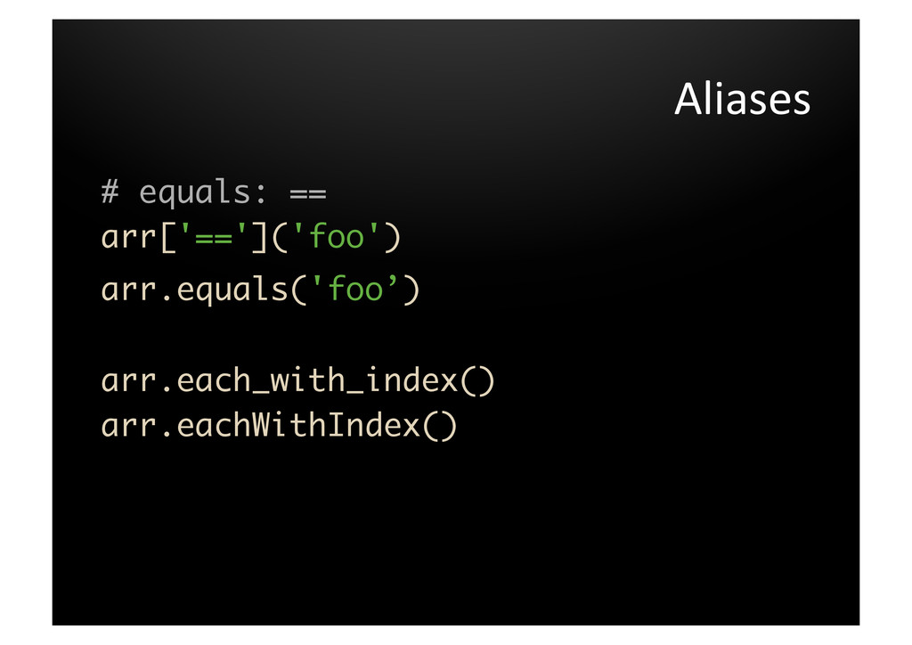 Aliases	