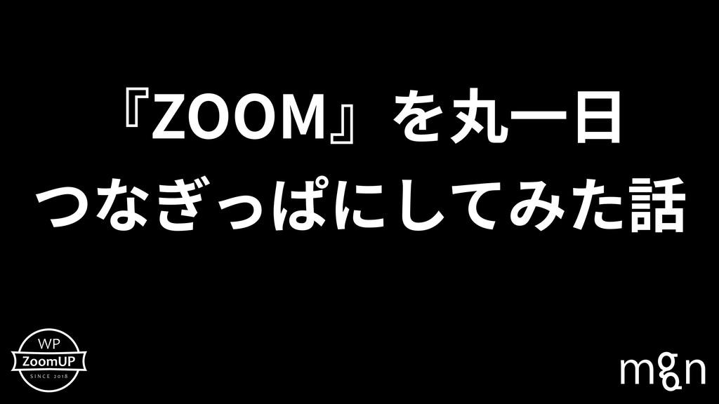 『ZOOM』を丸⼀⽇ つなぎっぱにしてみた話