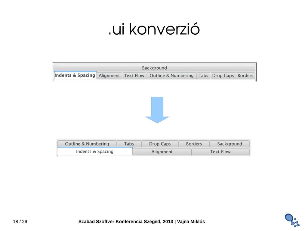 18 / 29 Szabad Szoftver Konferencia Szeged, 201...