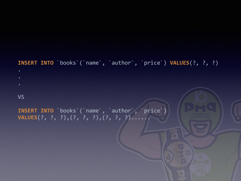 INSERT INTO `books`(`name`, `author`, `price`) ...