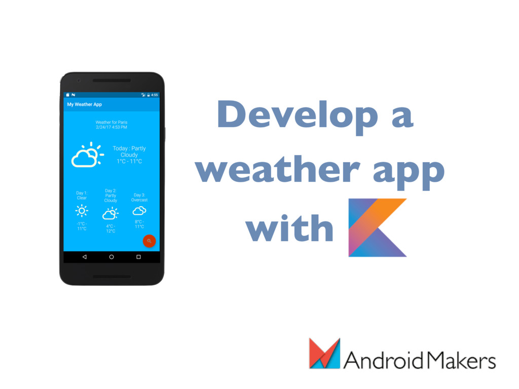 Develop a weather app with K