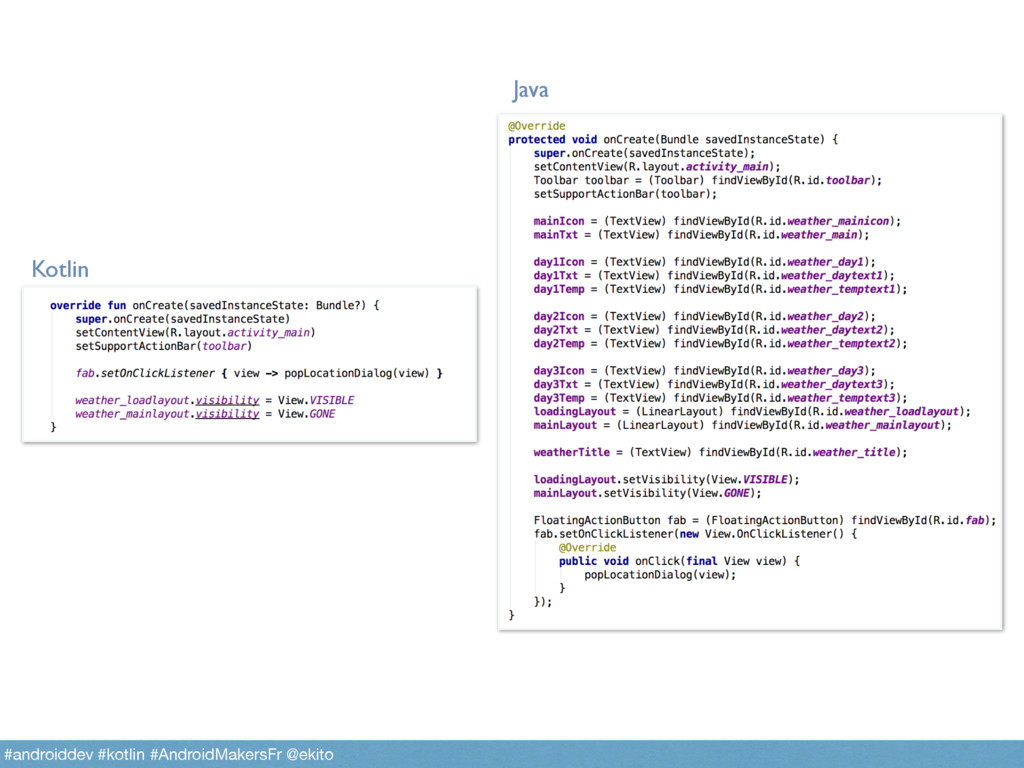 Kotlin Java #androiddev #kotlin #AndroidMakersF...