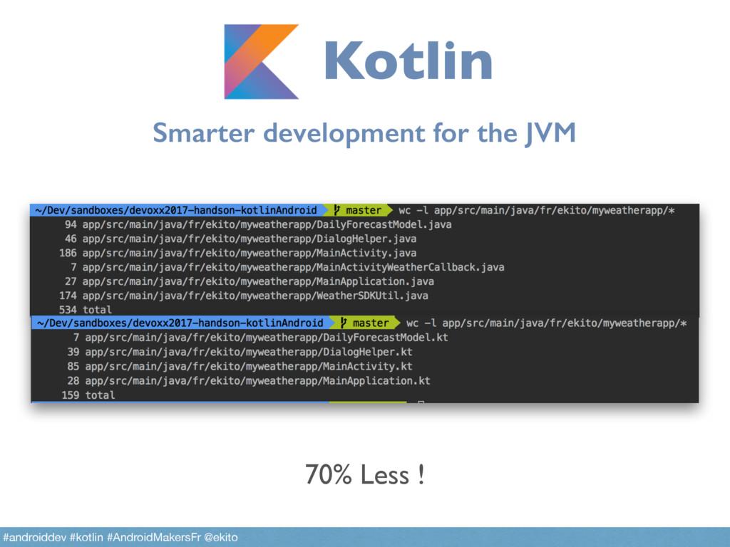 Smarter development for the JVM Kotlin #android...
