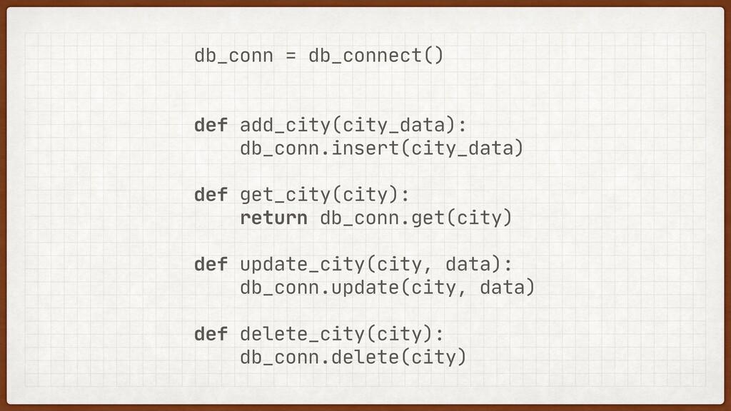 db_conn = db_connect()  def add_city(city_data)...