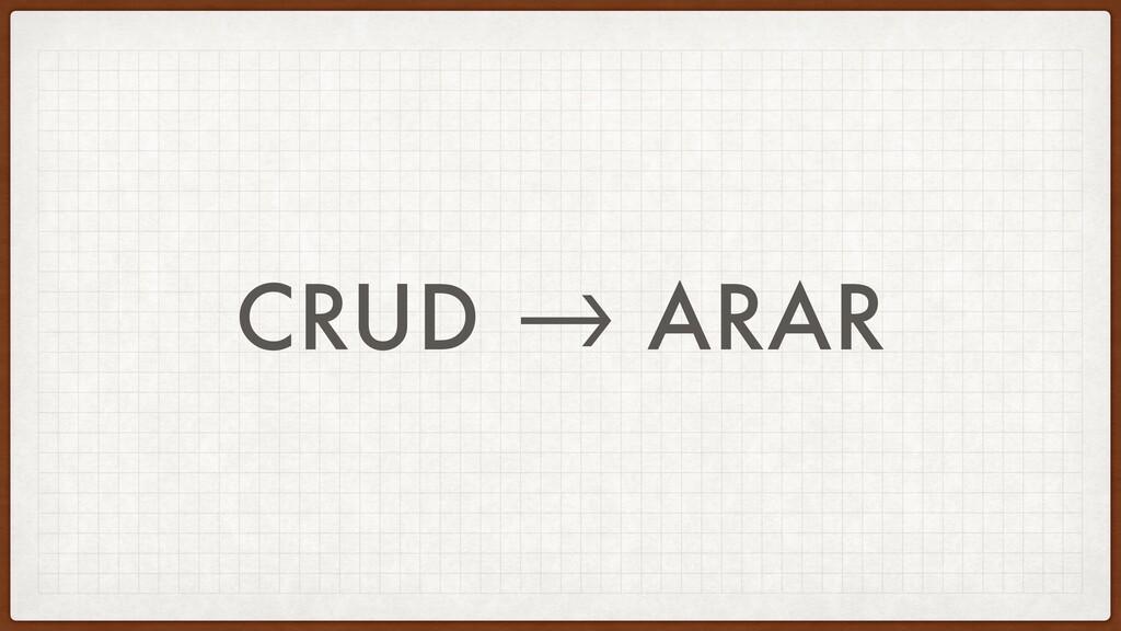 """CRUD """"-> ARAR"""