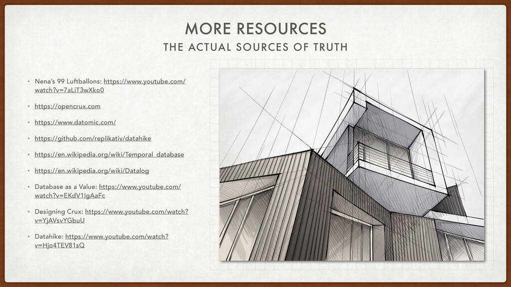 THE ACTUAL SOURCES OF TRUTH MORE RESOURCES • Ne...