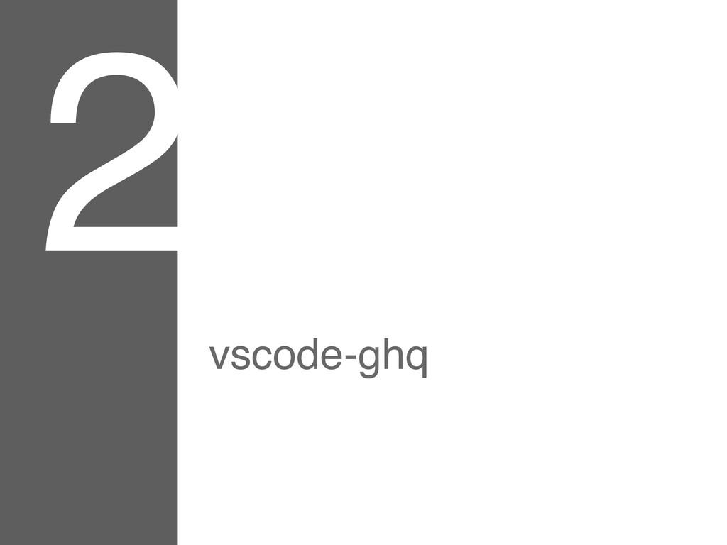 2 vscode-ghq